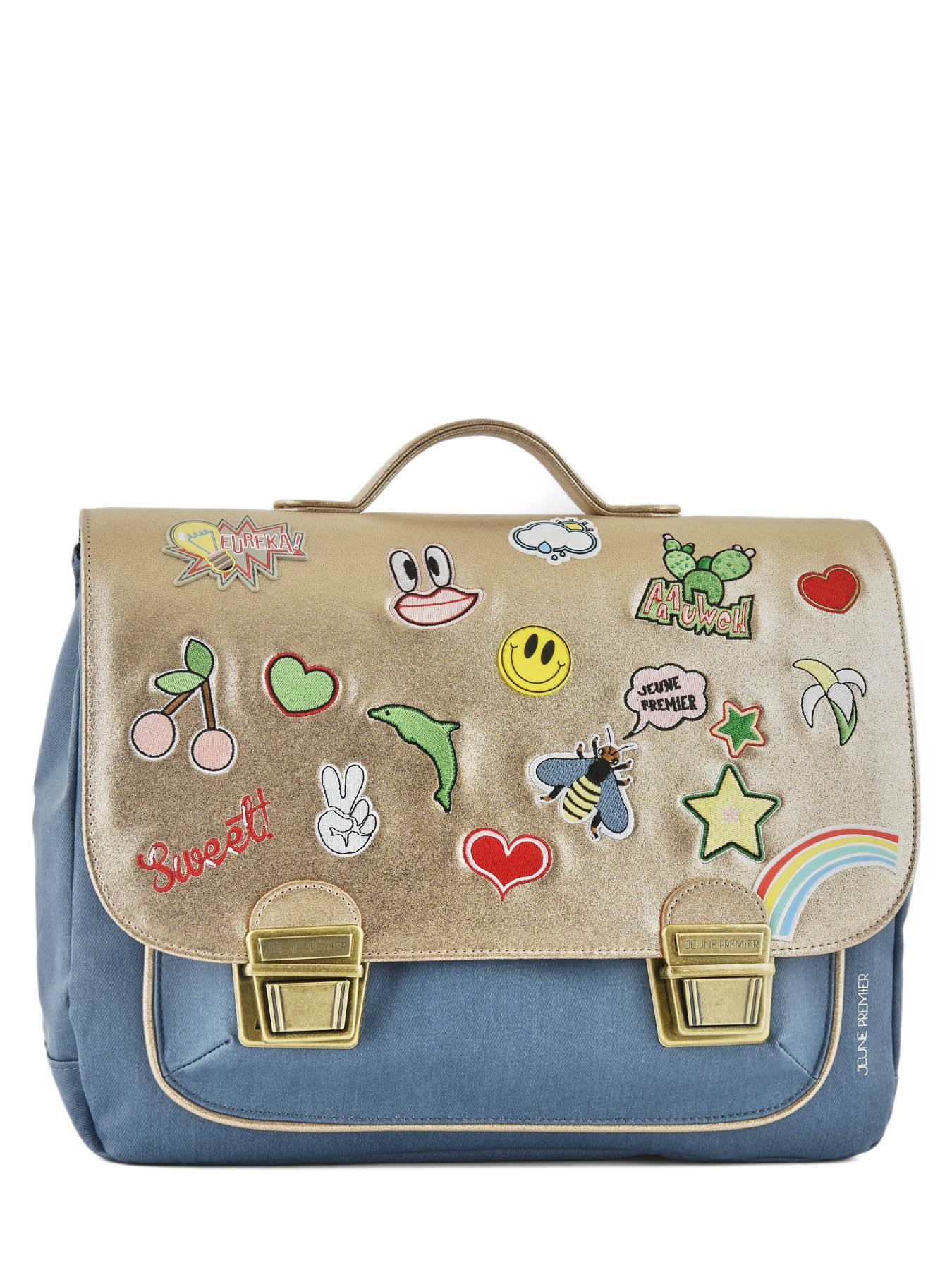 Школьный портфель для девочки Jeune Premier GOLDFUN Золото Midi, - фото 2