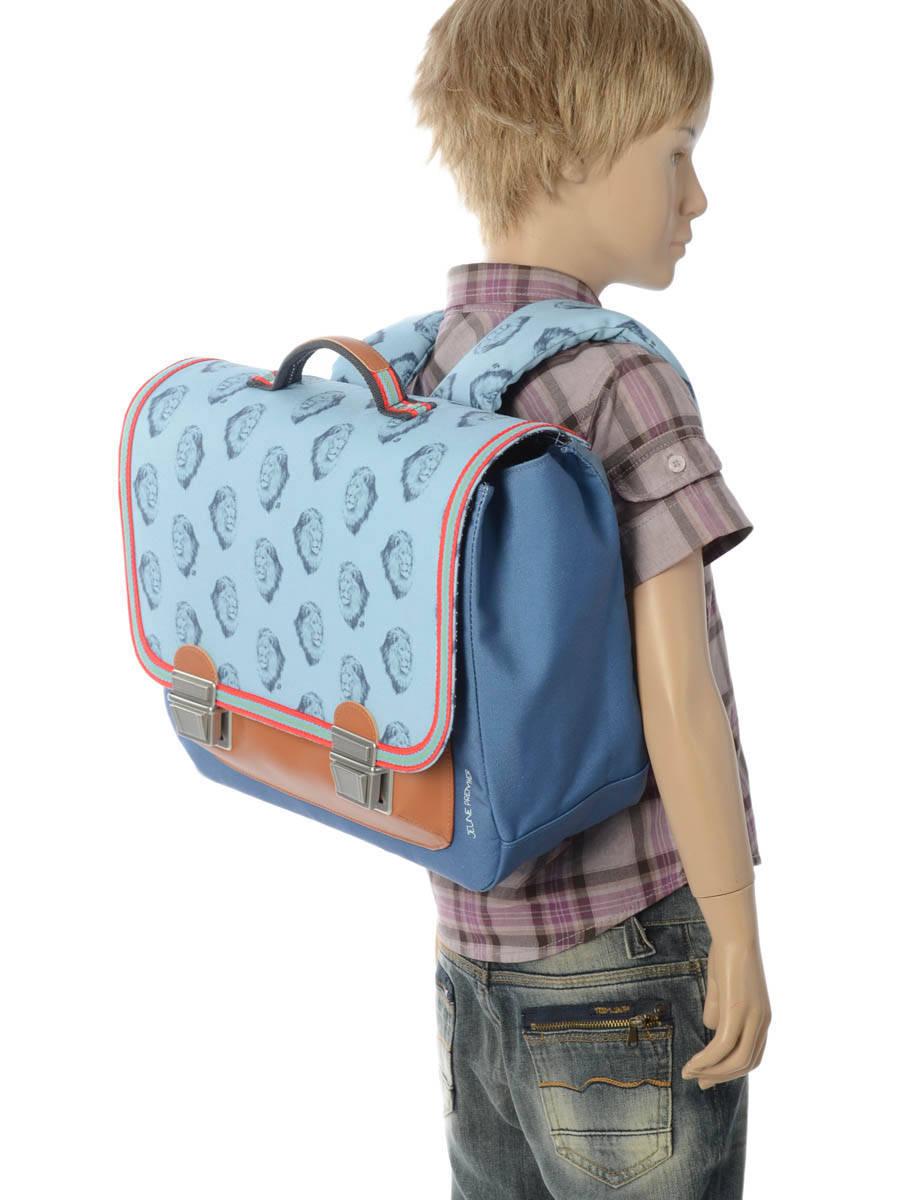 Школьный портфель для мальчика Jeune Premier Lion Midi Лев, - фото 5