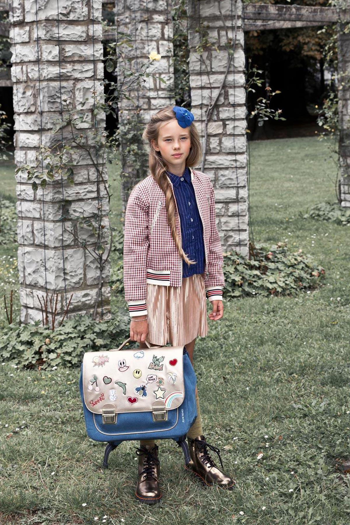 Школьный портфель для девочки Jeune Premier GOLDFUN Золото Midi, - фото 11