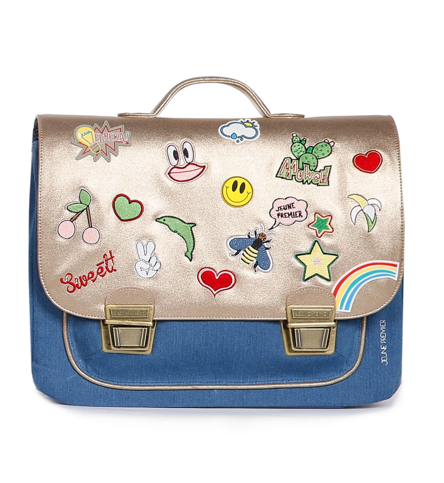 Школьный портфель для девочки Jeune Premier GOLDFUN Золото Midi, - фото 1