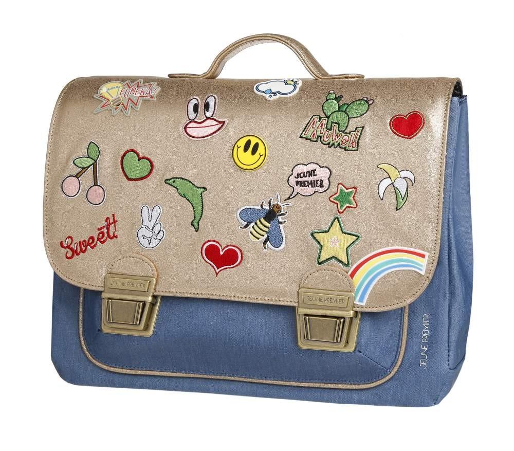 Школьный портфель для девочки Jeune Premier GOLDFUN Золото Midi, - фото 3