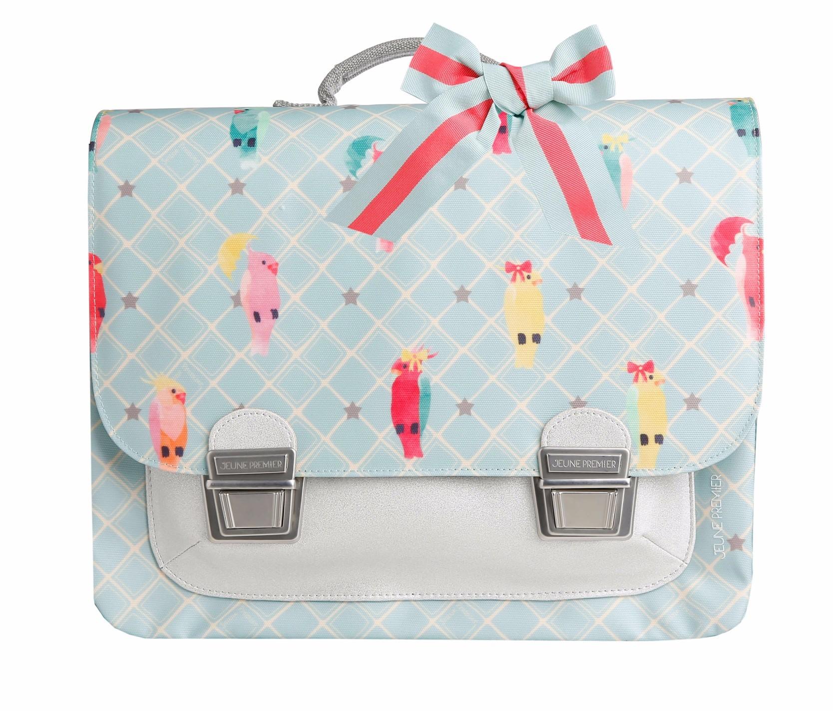 Школьный портфель для девочки Jeune Premier Posh Parrots Попугаи Midi , - фото 1