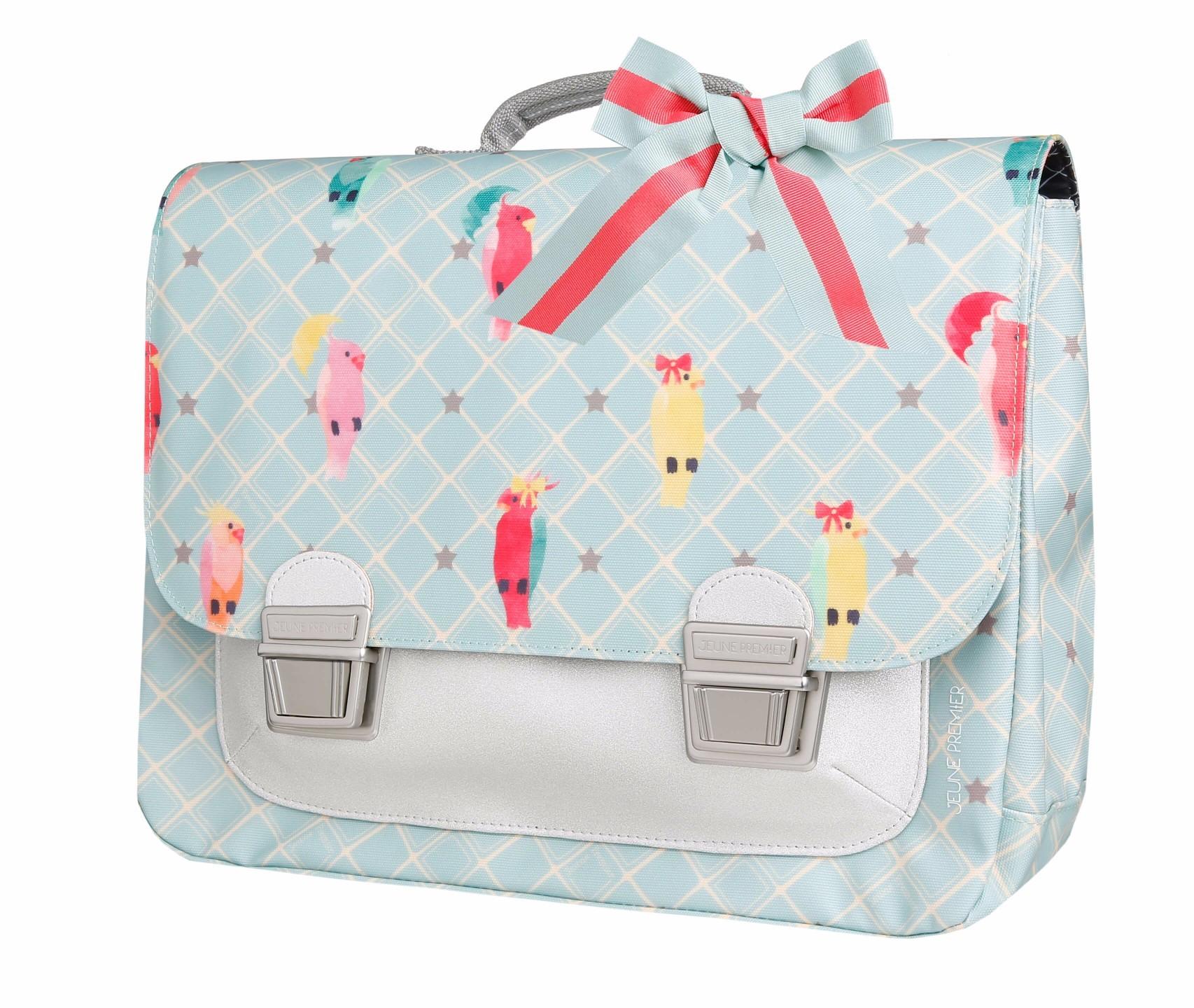 Школьный портфель для девочки Jeune Premier Posh Parrots Попугаи Midi , - фото 2