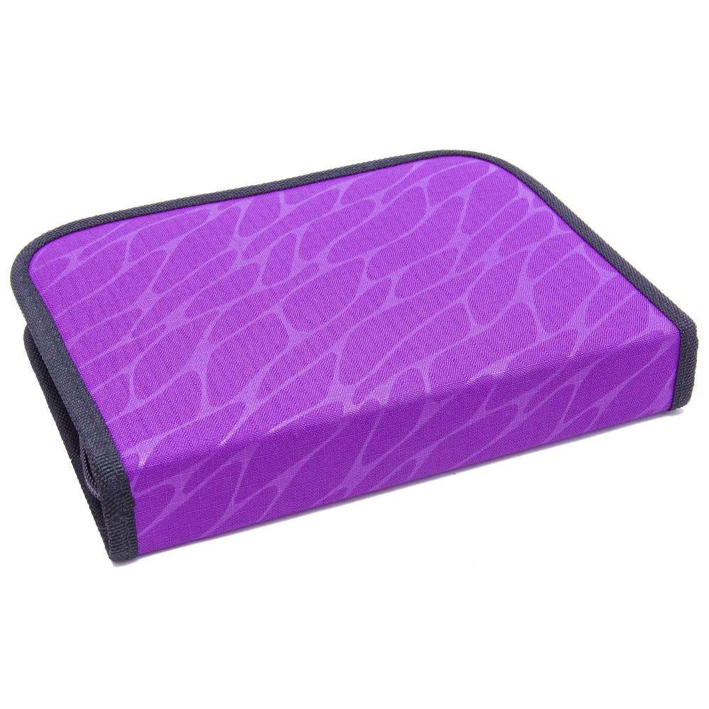 Пенал Херлиц WILD PRINT с наполнением 19 предметов цвет Фиолетовый, - фото 3