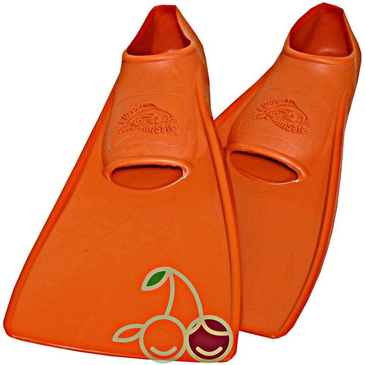 SwimSafe оригинал Ласты детские каучуковые для бассейна размер 30-33 оранжевые СВИМСЕЙФ - Германия, - фото 1