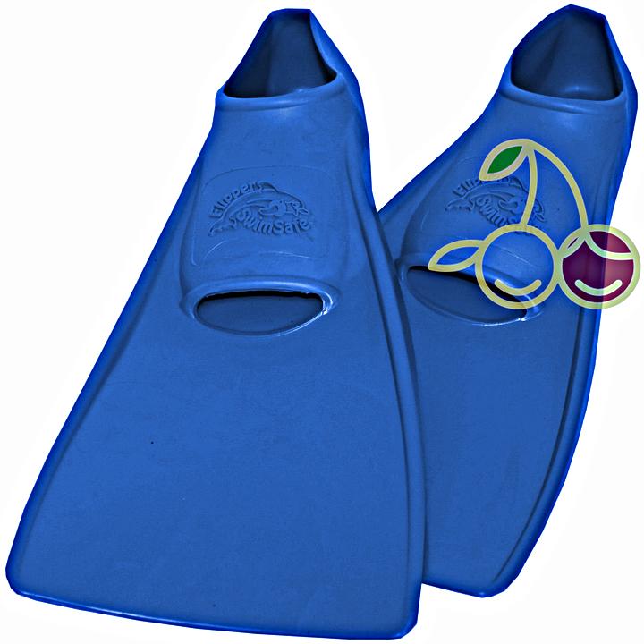 SwimSafe оригинал Ласты детские каучуковые для бассейна размер 30-33 синие СВИМСЕЙФ - Германия, - фото 1