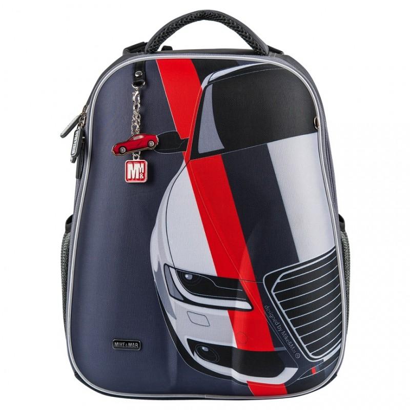 Рюкзак школьный Mike&Mar Майк Мар Машина т.серый 1008-158, - фото 1