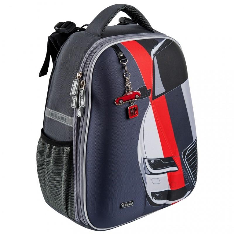 Рюкзак школьный Mike&Mar Майк Мар Машина т.серый 1008-158, - фото 2