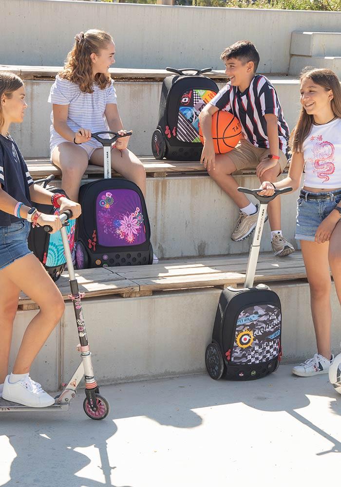 Рюкзак на колесиках Roller White Fire Nikidom Camo арт. 9024 (19 литров), - фото 11